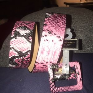 Woman's Juicy Couture Faux Snakeskin Belt New L
